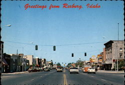 Greetings from Rexburg, View of Main Street