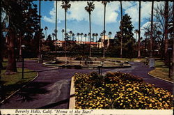 "Beverly Hills, Calif. ""Home of the Stars"" Postcard"