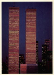Twin Towers at night