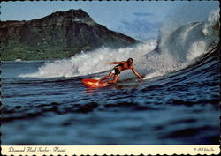 Diamond Head and Surfer