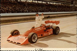 A.J. Foyt Jr. with Gilmore Racing Team car