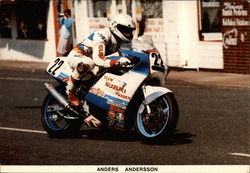 Anders Andersson on the Team Sweden Suzuki