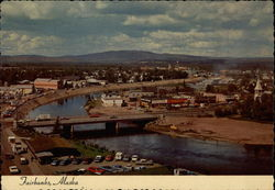 The Chena River Winding Through the City of Fairbanks Postcard