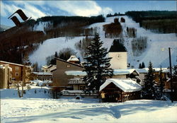 Vail Village and Lower Ski Trails on Vail Mountain