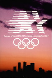 Games of XXIIIrd Olympiad Los Angeles 1984 Postcard