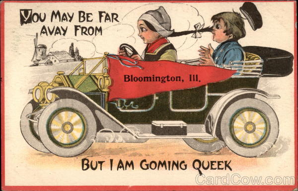 Greetings from Bloomington, IL Illinois Dutch Children