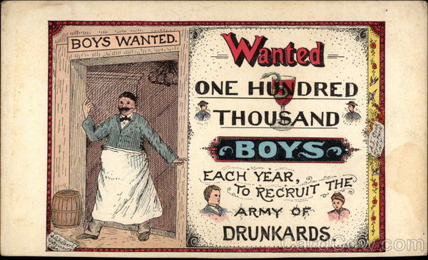Boys Wanted For Army Of Drunkards Drinking