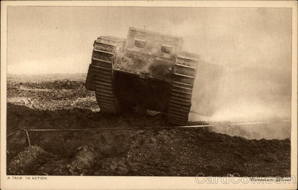 A Tank in Action World War I