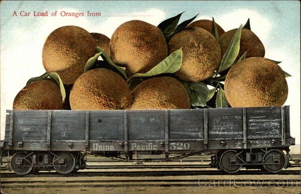 A Car Load of Oranges Exaggeration