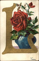 "The Letter ""L"" and a Red Rose"