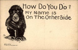 Chimpanzee saying How do you do?