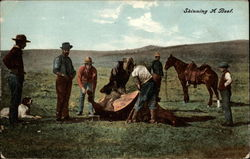 Skinning A Beef