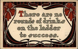 There are no rounds of drinks on the ladder to success