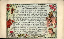 "From Burbank - the ""Plant Wizard"" on tobacco and alchohol"
