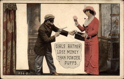 Girls rather lose money than powder puffs Postcard