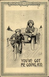 Kid on Bike, Woman in Car