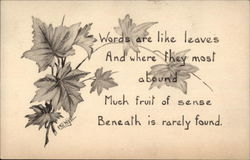 Maple leaves with poem