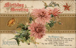 November Birthday greeting with Flowers
