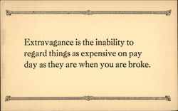 Expression about Extravagance