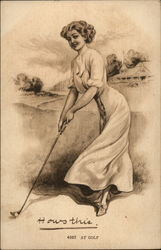 How's This Lady's Golf Pose