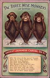 The Three Wise Monkeys of Nippon