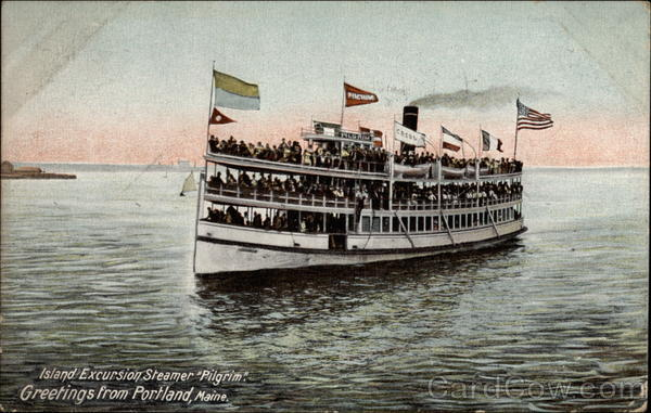 Island Excursion Steamer Pilgrim Portland Maine