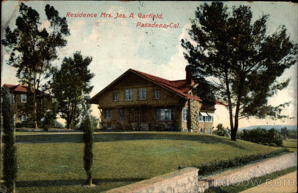 Residence Mrs. Jas. A. Garfield Pasadena California