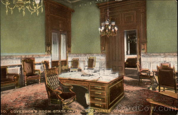 Governor's Room, State Capitol Des Moines Iowa