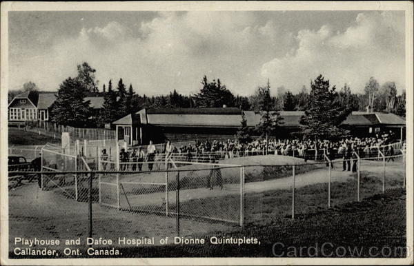 Playhouse and Dafoe Hospital of Dionne Quintuplets Callander Canada