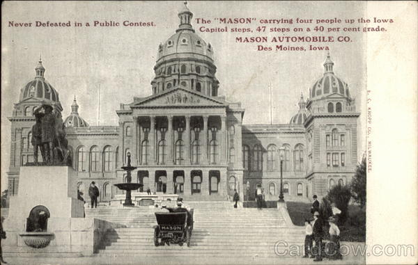 The Mason on the Iowa Capitol Steps Des Moines