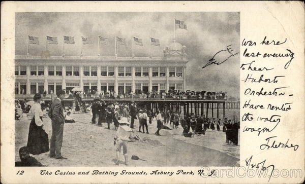 The Casino and Bathing Grounds Asbury Park New Jersey