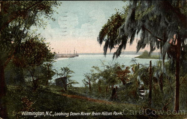 Looking Down River From Hilton Park Wilmington North Carolina