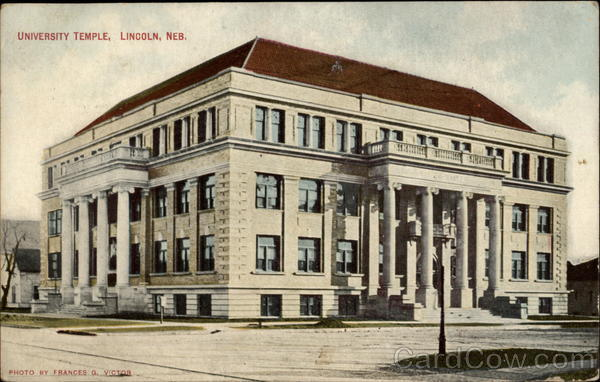 University Temple Lincoln Nebraska Francis G. Victor