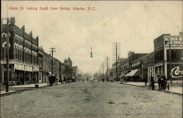 Queen St. Looking South From Gordon Kinston North Carolina