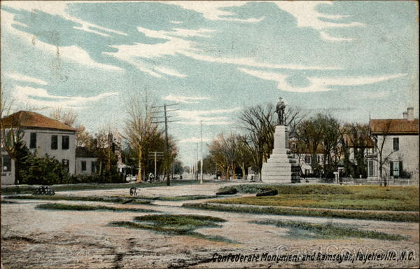 Confederate Monument and Ramsey St Fayetteville North Carolina