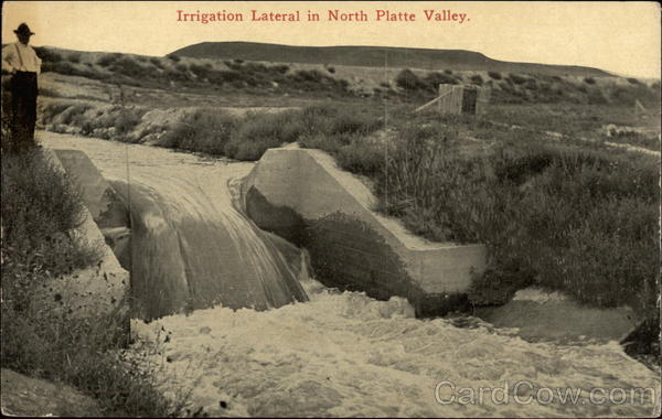 Irrigation Lateral in North Platte Valley Scenic Nebraska