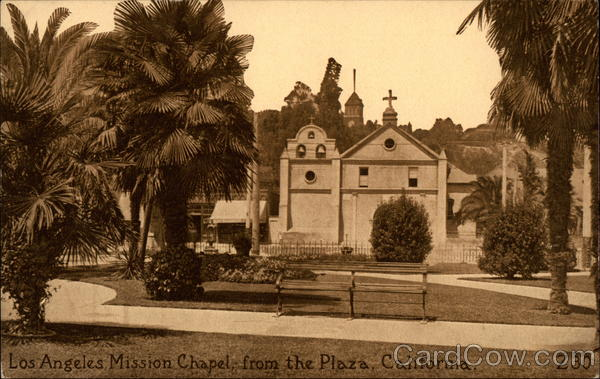 Los Angeles Mission Chapel from the Plaza California