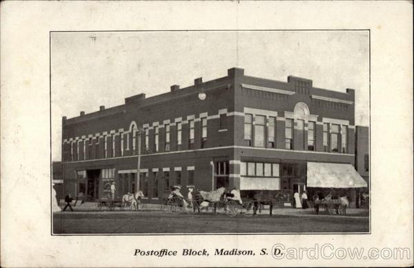 Postoffice Block Madison South Dakota