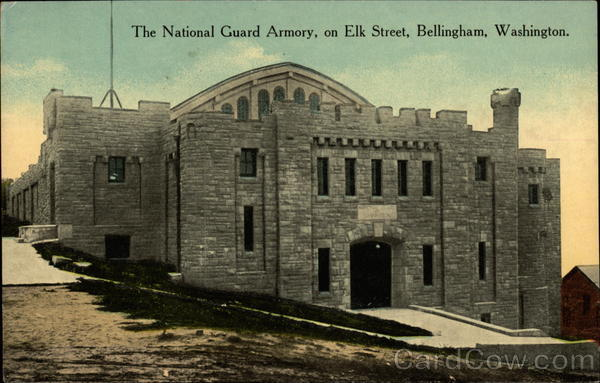 The National Guard Armory, on Elk Street Bellingham Washington