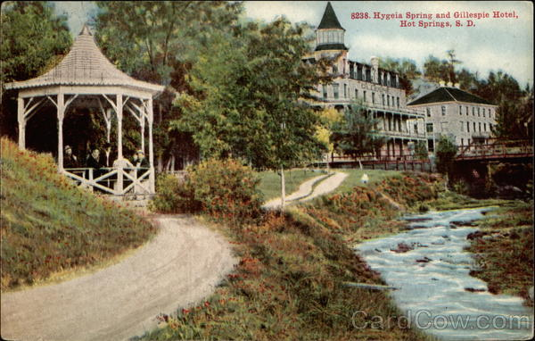 Hygeia Spring and Gillespie Hotel Hot Springs South Dakota