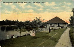 Cedar River and Water Pavilion, Ellis Park