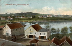 Aerial View of Newcastle and Damariscotta