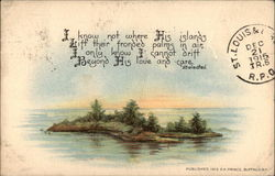 Painting of an Island in a River w/ Poem