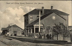 Depot and Eating House Postcard