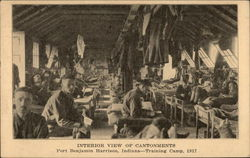 Interior View of Cantonments; Training Camp, 1917