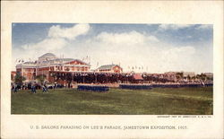 U. S. Sailors Parading on Lee's Parade, Exposition 1907