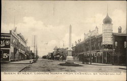 Queen Street, Looking North From Caswell St Postcard