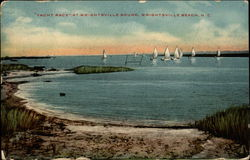 """Yacht Race"" at Wrightsville Sound Postcard"