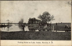 Fishing Scene on Lake Andes