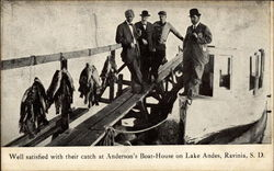 Fisherman at Anderson's Boat-House, Lake Andes